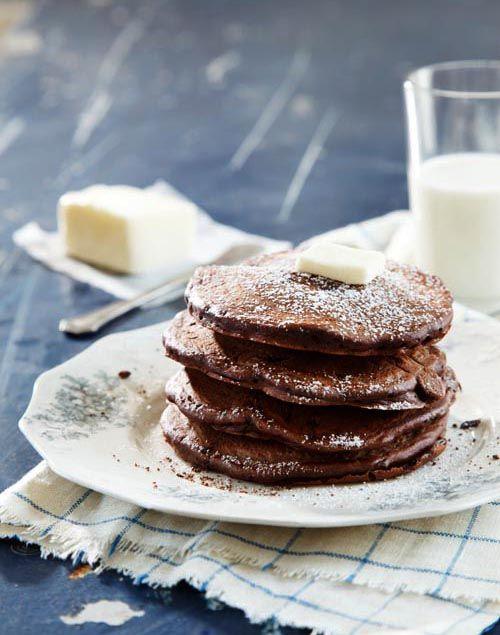 Seriously Dark Chocolate Pancakes