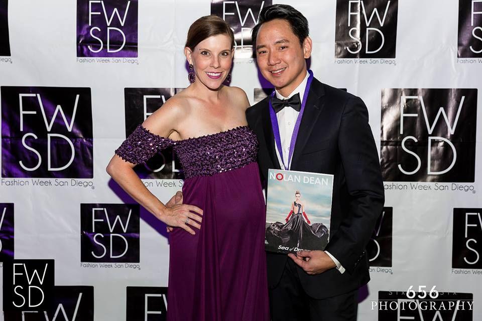 FWSD Founder/Director Allison Andrews and #FWSD15 Designer Nolan Dean.