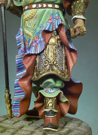 Chinese Warrior (Kuan Yu 300 A.D.) S8-F33 90 mm 1/18 | Classics in 90 mm | Andrea Miniatures | ANDREA DEPOT USA