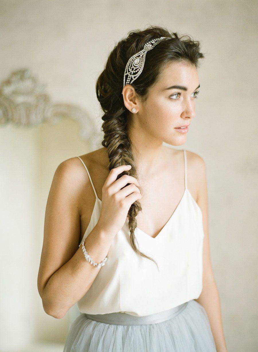 Green dress on pale skin  Elegant  Ethereal Wedding Inspiration  Bel Aire Bridal Giveaway