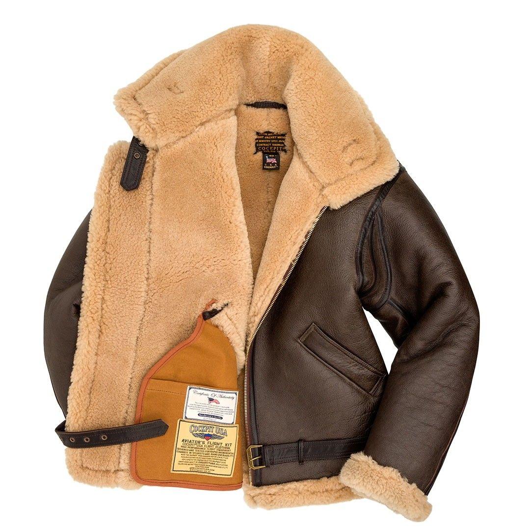 R A F Sheepskin Bomber Jacket Z2109 Leather Flight Jacket Jackets Men Fashion Leather Jacket Men [ 1080 x 1080 Pixel ]