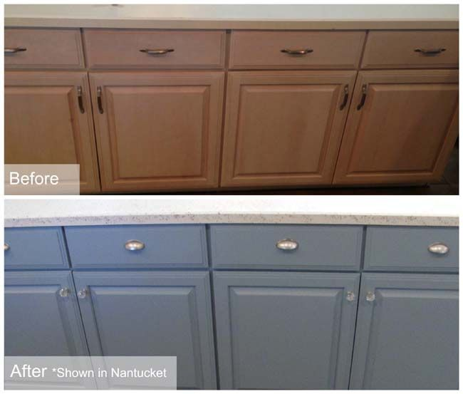 Before After Reclaim Beyond Paint Painting Oak Cabinets Kitchen Cabinets Painting Cabinets