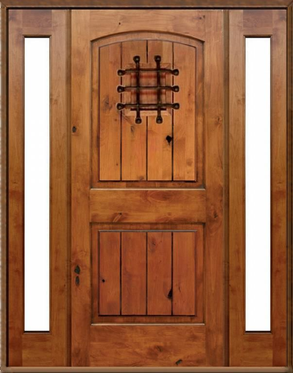 Knotty Alder entry Doors | Knotty Alder Exterior Arched-Top with ...