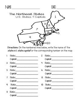 Photo of Northeast States and Capitals Quiz Pack