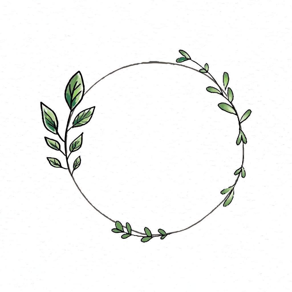 doodle round floral wreath frame vector premium image by rawpixel com adj wreaths illustration drawing vektorgrafik in photoshop vektor herz