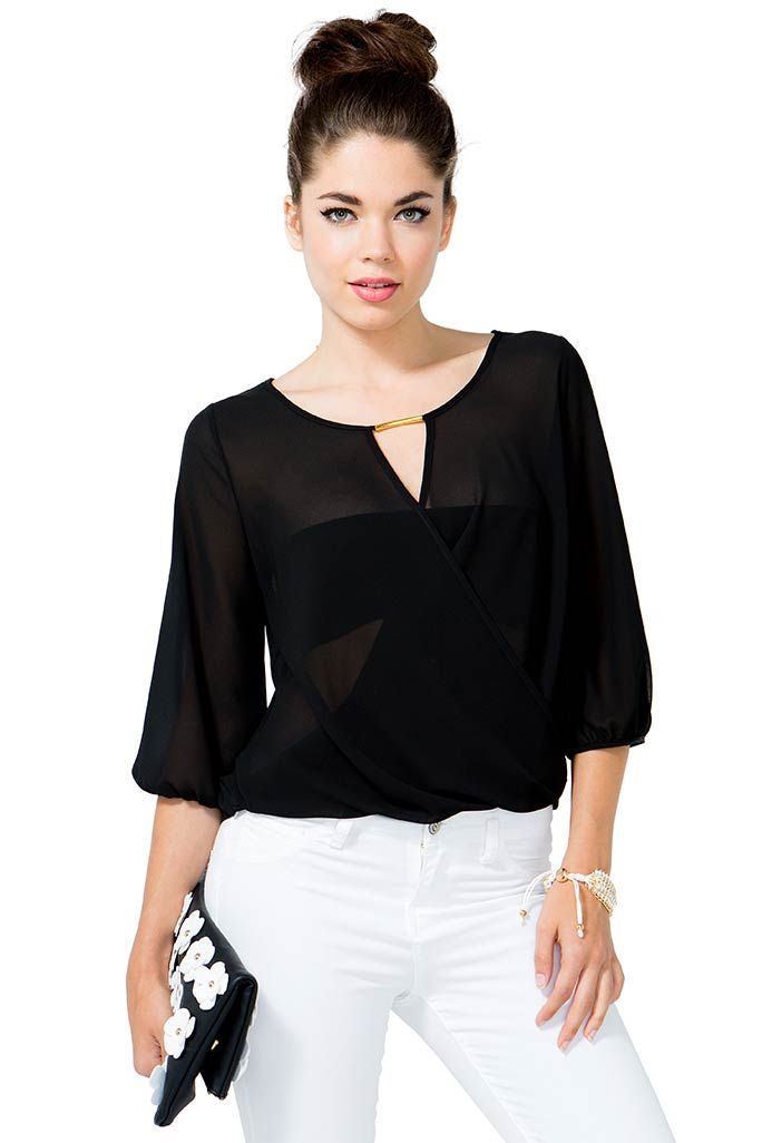 Marissa Wrap Blouse