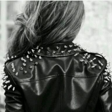 Spiked leather jackets.