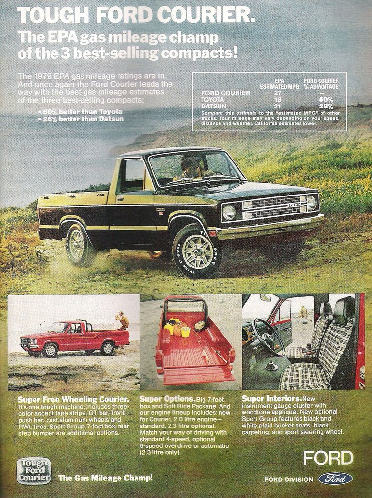 1979 Ford Courier Pickup Ad Ford Courier Ford Motor Company Ford Pickup