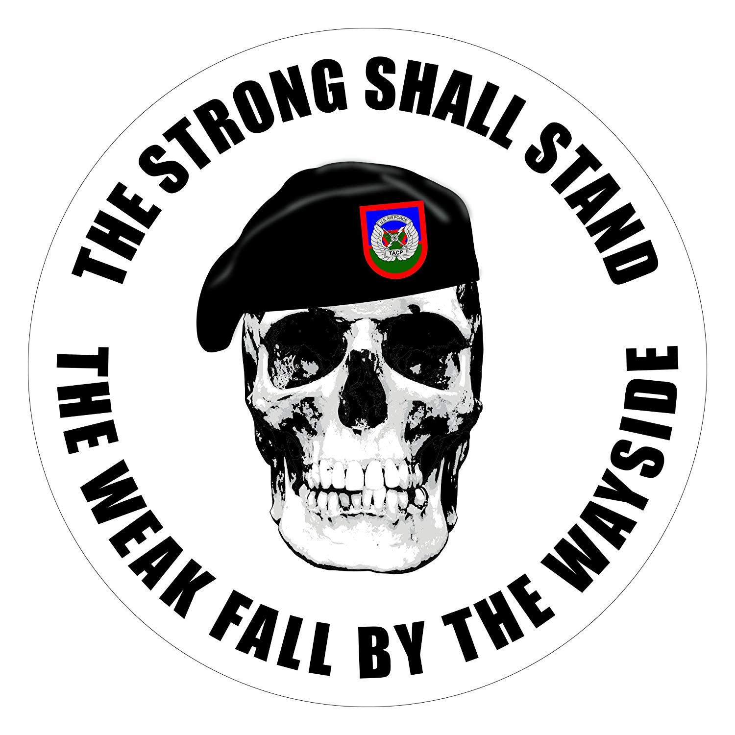 TACP Stickers Skull Weak Fall by The Wayside in 2020 (With