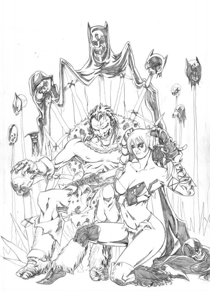 Harley Quinn and the Joker print recently done that will be ...