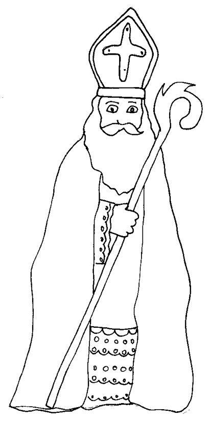 Coloriage saint nicolas dessin 1 t te modeler craft - Coloriage tete a modeler ...
