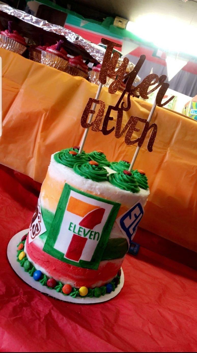 711 cake eleventh birthday birthday parties boy birthday