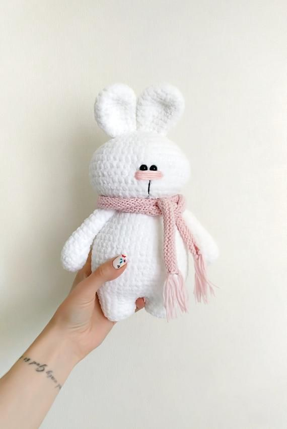 Crochet plush bunny, knitted rabbit crochet, crochet plush toys, rabbit amigurumi, bunny for toddler, crochet plush bunny, nursery decor #bunnyplush