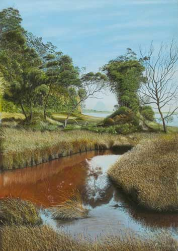 Photo Realism Landscape Painting By Michael Sass New Zealand Artist Landscape Paintings Mountain Landscape Painting Landscape