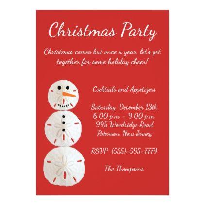 Sand Dollar Snowman Card - christmas cards merry xmas family party