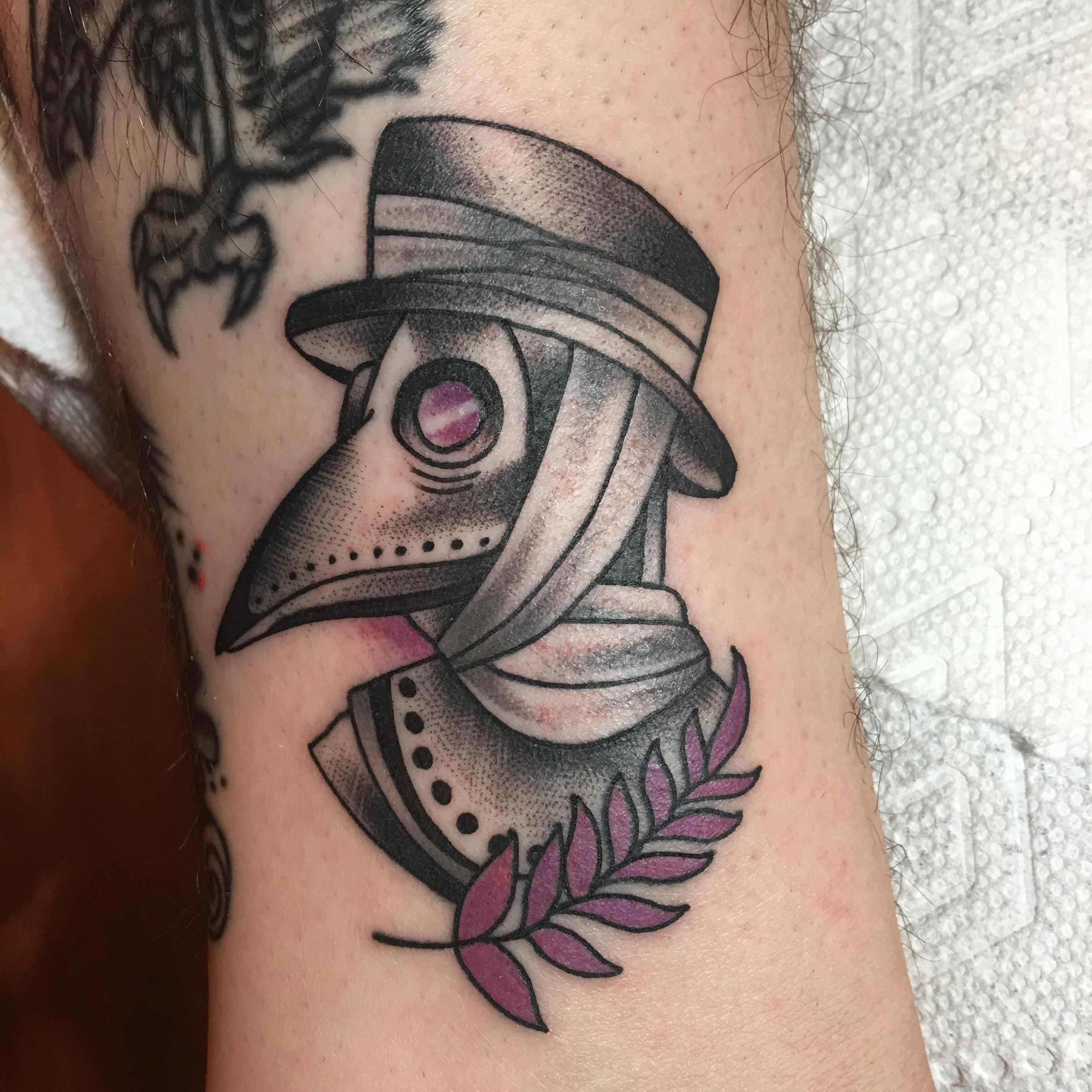 Plague Doctor by Drew at Sin Alley Tattoo in Pawtucket RI