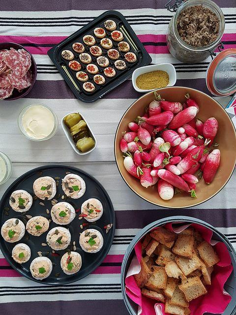 Un apéro pour 10 personnes prêt en moins de 15 minutes | Recettes de cuisine, Repas pour 10 ...
