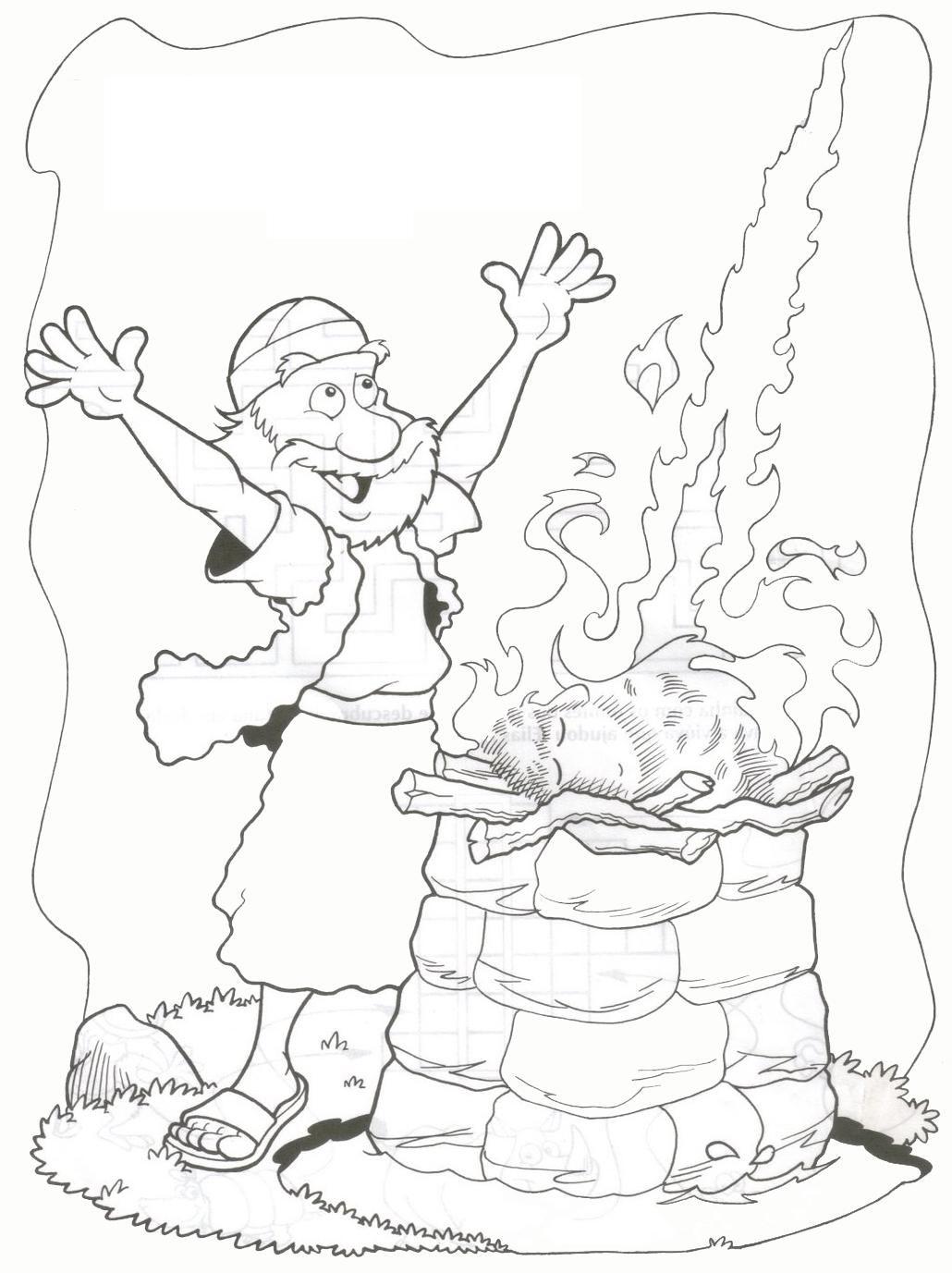 Então caiu fogo do Senhor, e consumiu o holocausto, a lenha, as ...