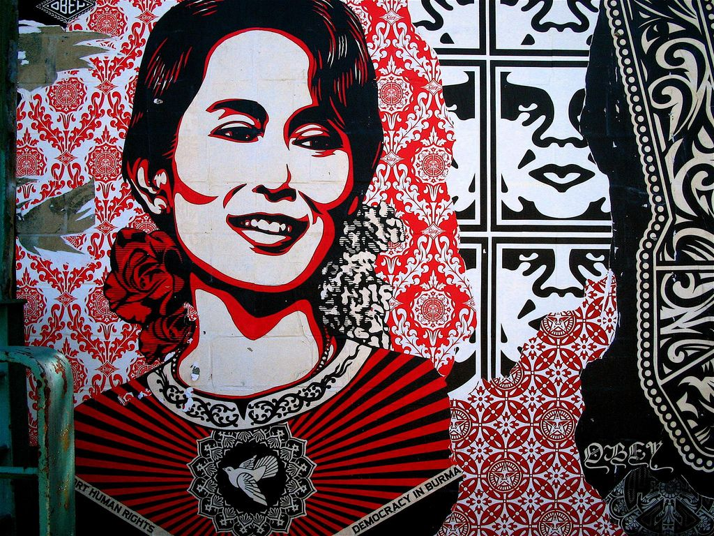 Aung San Suu Kyi by Shepard Fairay