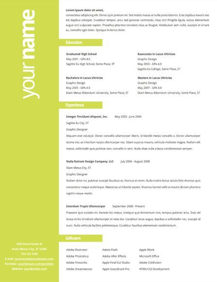 simple use of color on creative resume  but please  keep