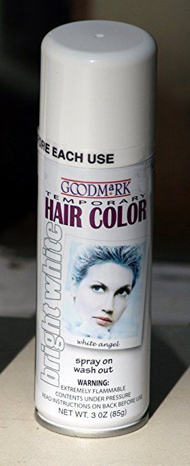 4 25 Spray On Wash Out White Hair Color Temporary Hairspray 031414 Ebay Fashion White Hair Color Hair Color White Hair
