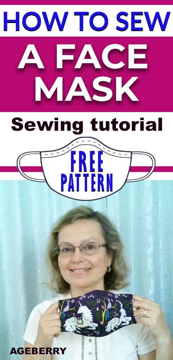 How to sew a face mask from fabric - a video sewing tutorial
