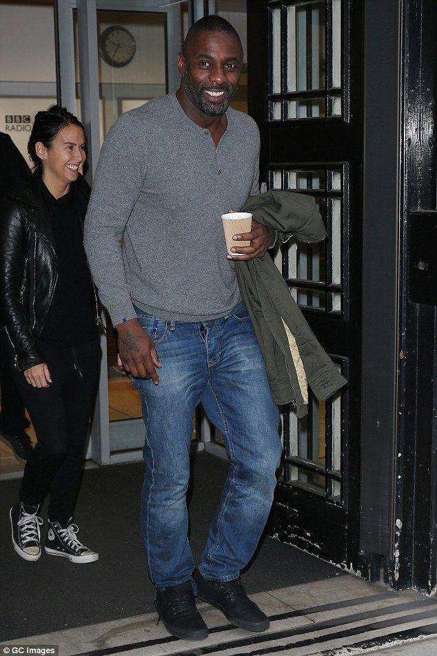 Man of the hour!Idris Elba seemed to be basking in the glow of his SAG and Golden Globe nominations as he visited the BBC Radio 2 studios in London on Friday