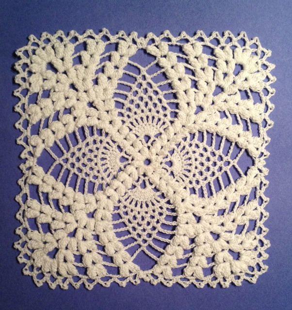 Pineapple Motif Crochet | Crochet Patterns | Pinterest | Deckchen ...