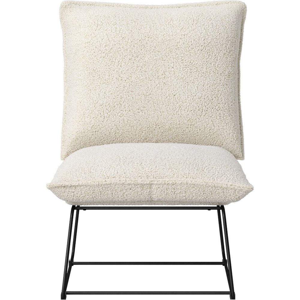 Outstanding Massey Faux Fur Metal Base Slipper Chair Nubby Ivory Ocoug Best Dining Table And Chair Ideas Images Ocougorg