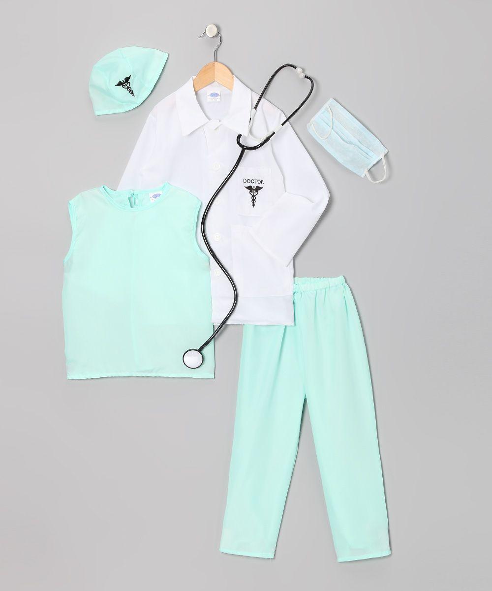 White Amp Aqua Doctor Dress Up Set Toddler Amp Kids Aria S