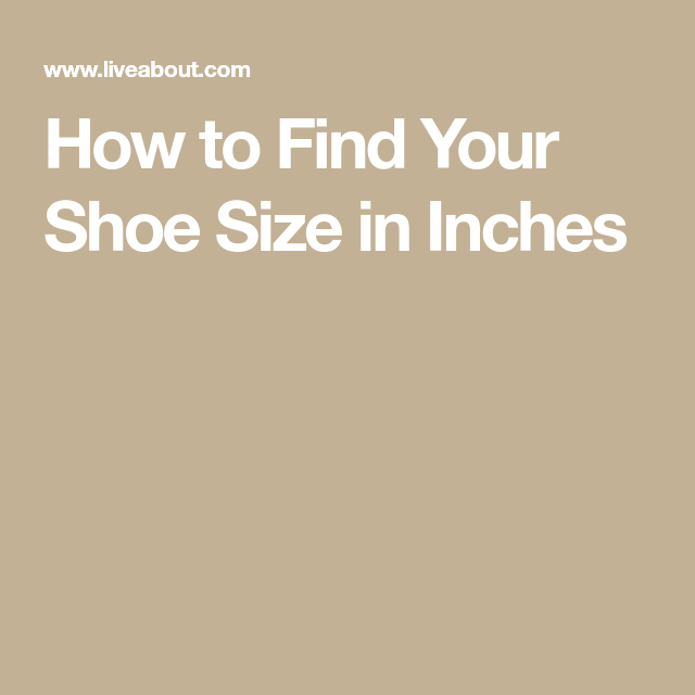 How To Find Your Shoe Size.U S Women S Shoe Sizes In Inches Crochet Reference
