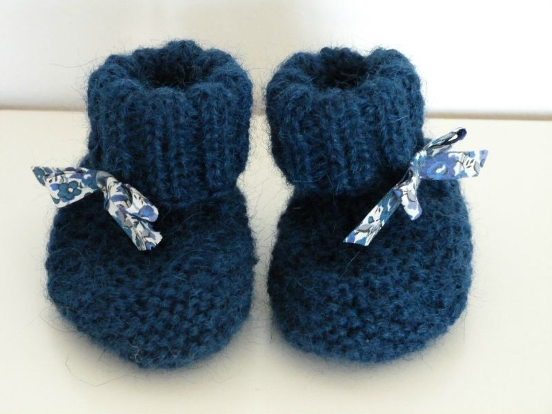 tuto tricot chaussons bebe