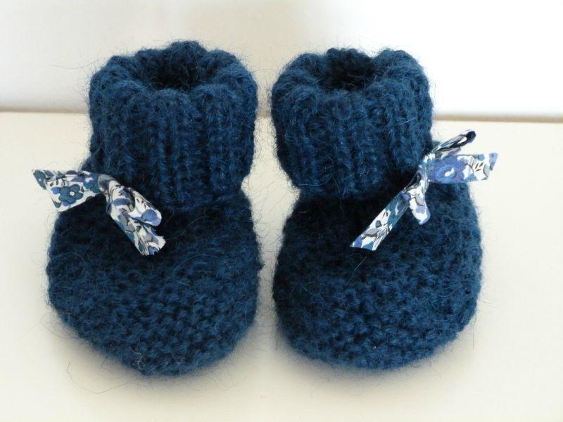 modele tricot bebe chausson