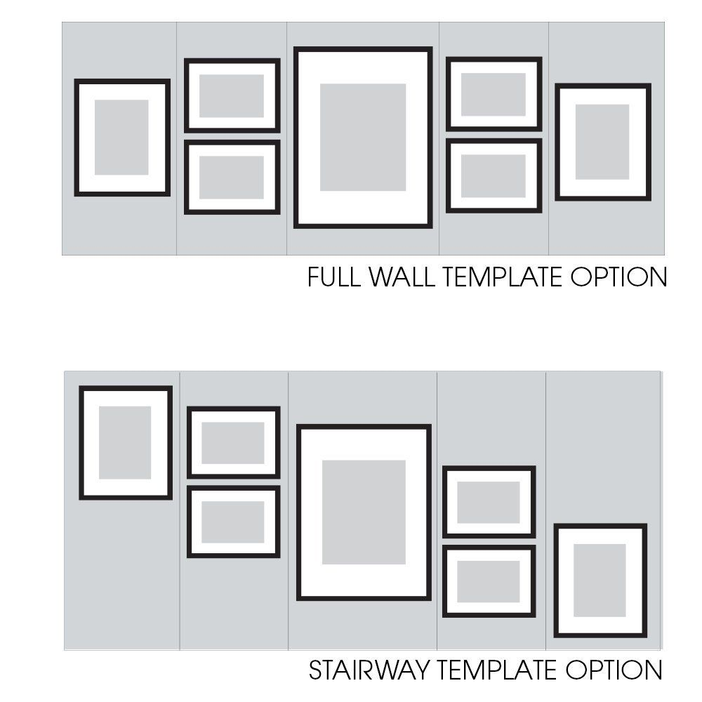 Gallery Perfect Hang Your Own Gallery 7 Piece Frame Set Black With White Amazon Ca Home Amp Kitchen Frames On Wall Photo Wall Decor Picture Frame Wall