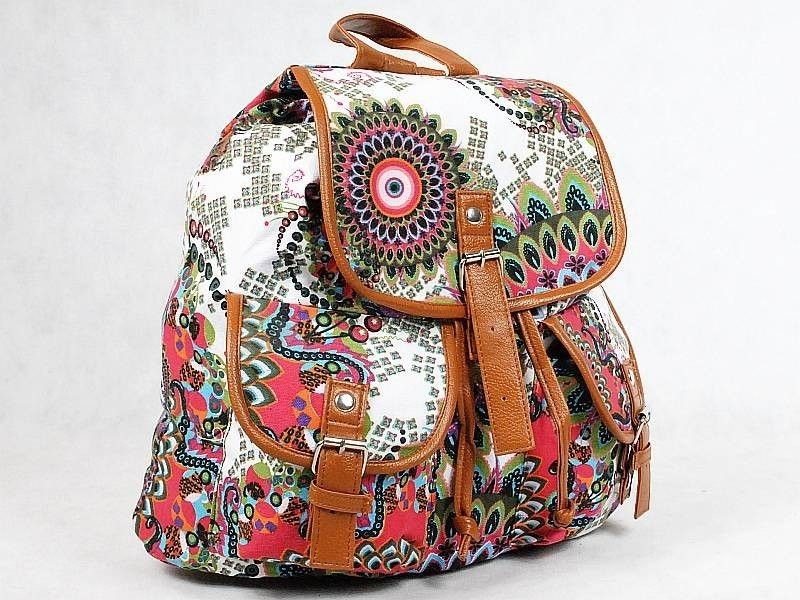 Plecak Vintage Aztec Folk Indiana Hipster Plecaki Szkolne Vintage Hipster Fashion Fashion Backpack
