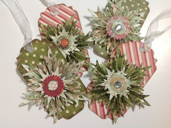 Snowflake Rosette Vintage Inspired Christmas by LinandReDesign, $10.00