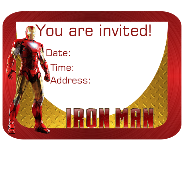 Iron Man Invitation - FREE PDF Download | Kids party ideas ...