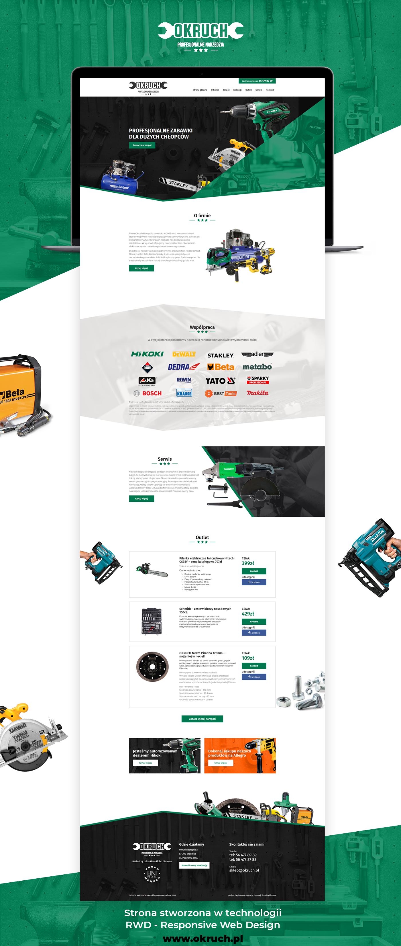 Shop Power Tools Website Web Design Tool Website Responsive Web