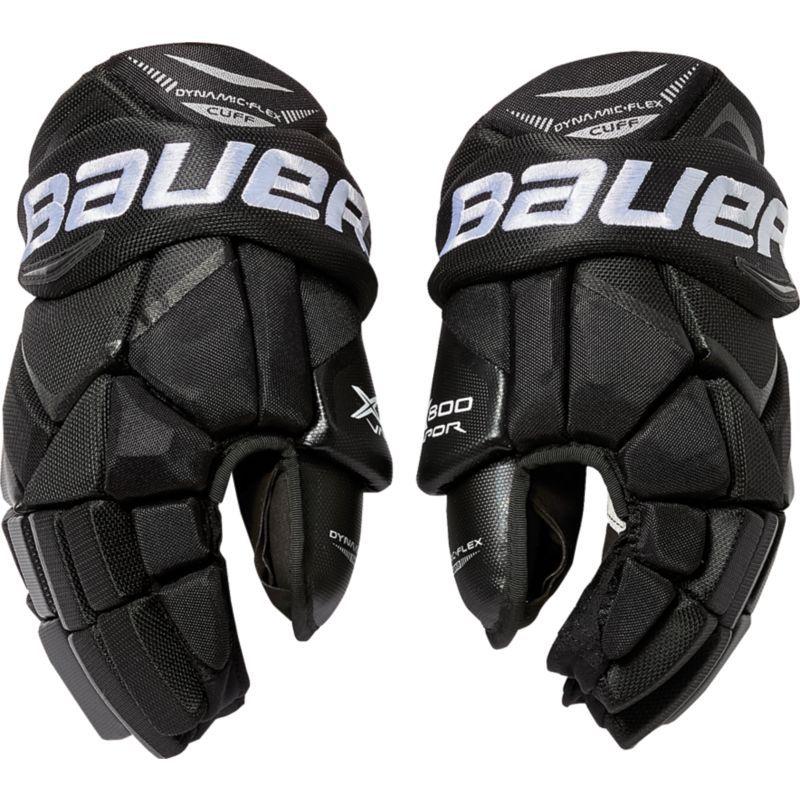 Bauer Senior Vapor X800 Ice Hockey Gloves Black Hockey Gloves Ice Hockey Hockey Helmet