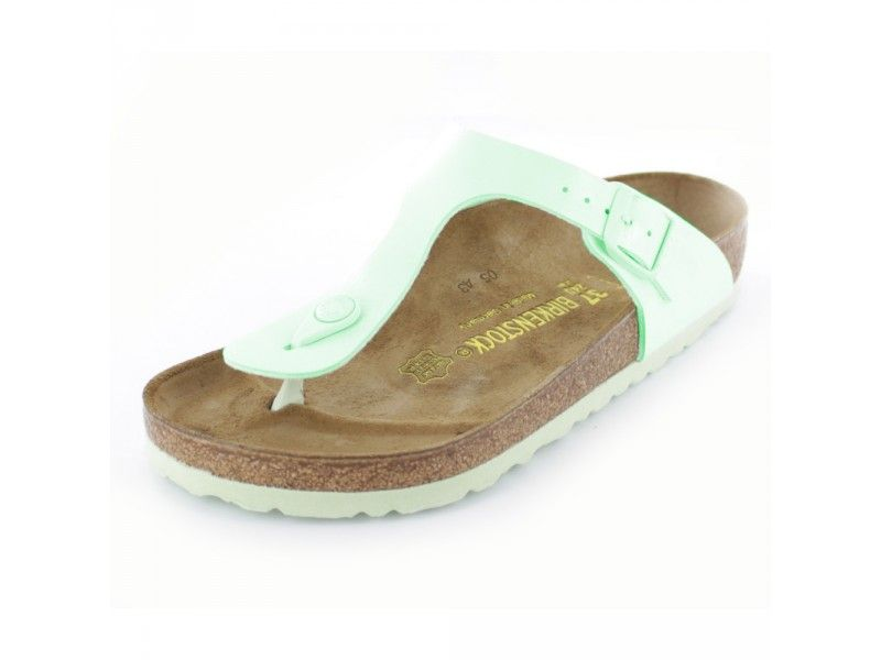 Birkenstock Gizeh Damen Zehenstegpantolette in mintgrün