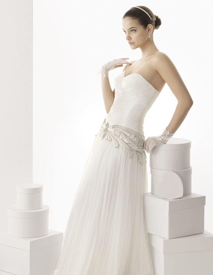 rosa clara bridal: art deco vintage-inspired wedding dress   wedding