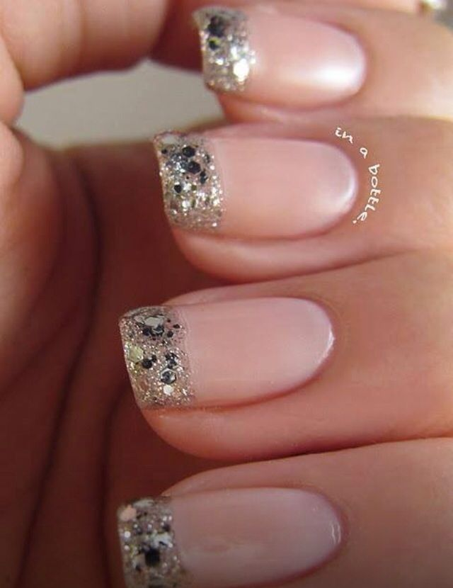 Pretty pink sparkly nails   Nails   Pinterest   Sparkly nails and ...