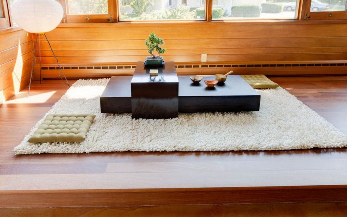 japanese table on floor - Japanese Floor Table and its