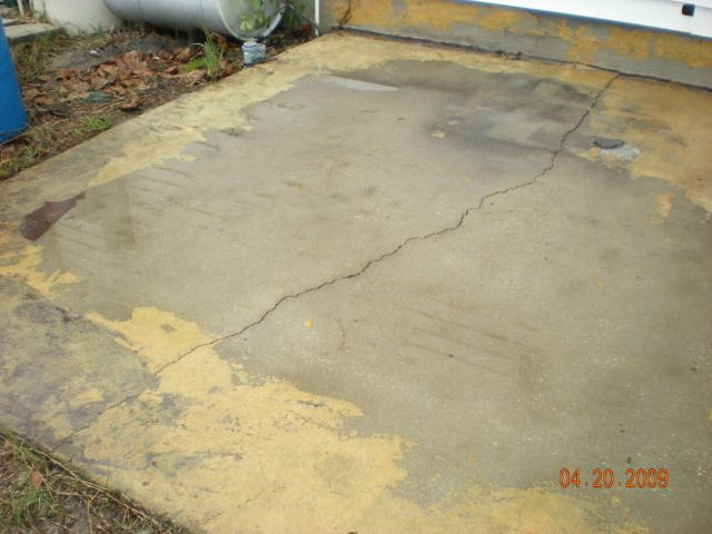 Awesome Flooring And Carpeting: Concrete Patio Cracked And Unlevel, Concrete, Paint