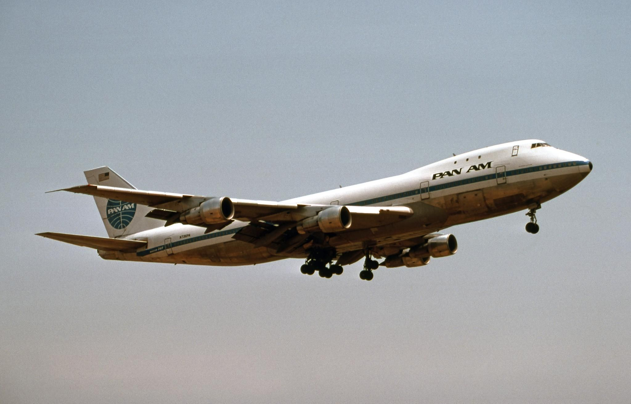 Pan Am Boeing 747 N736PA Clipper Victor and also named Clipper Young  America at one point (11th 747 ever built). Made the first commercial  passenger flight ...