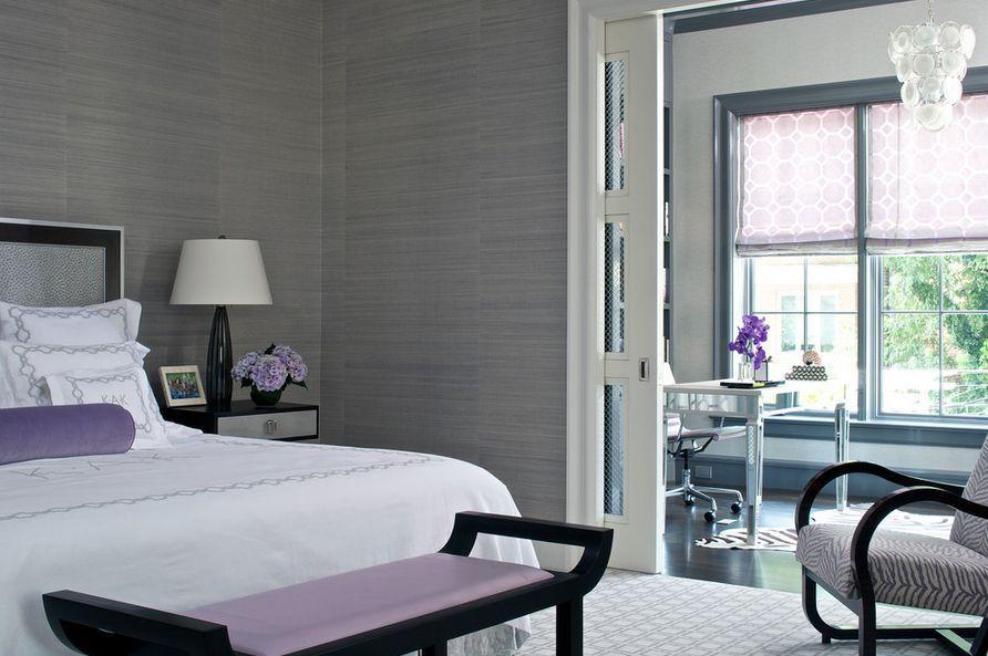 De kleuren paars en wit zijn goed te combineren in een slaapkamer ...