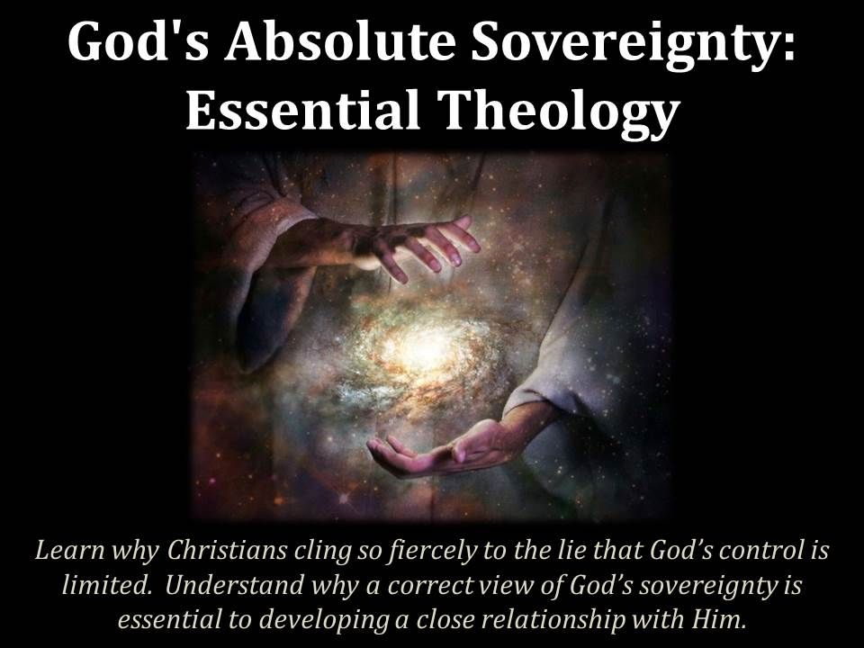 Learn why God's sovereignty is such a critical issue in your relationship with Him.