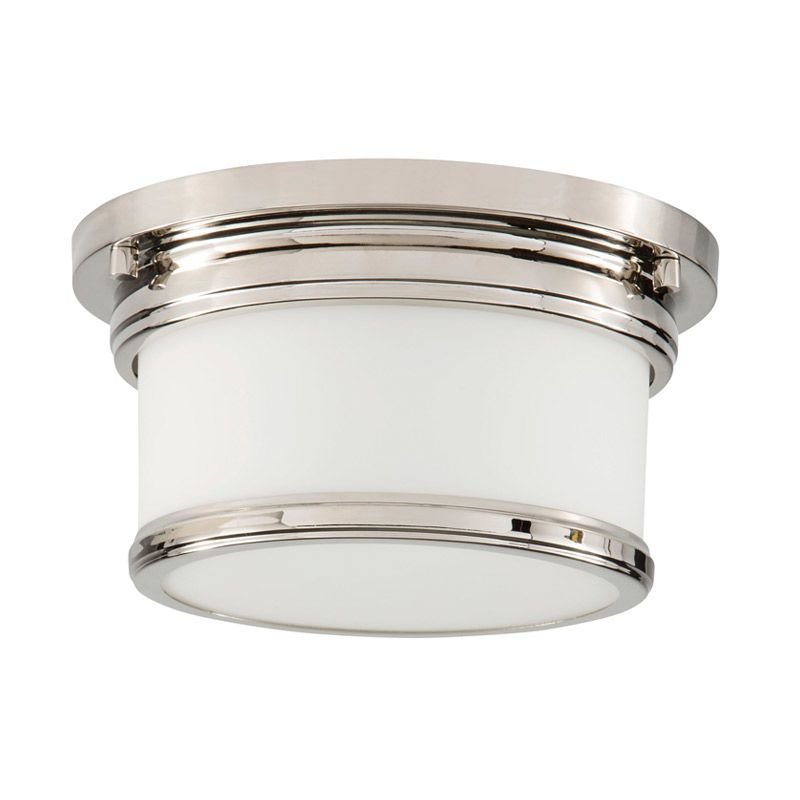 Park harbor phfl4031 10 wide single light flush mount ceiling fixture polished nickel indoor lighting