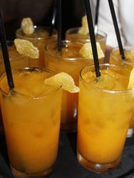 Chef Clay Conley's Black Tea Tangerine Ginger Cocktail