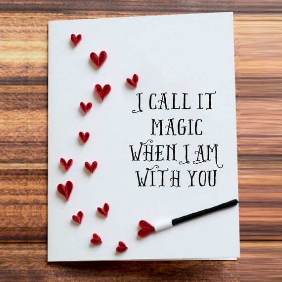 Greeting card i call it magic when i am with you heart shower i call it magic when i am with you heart shower quilled art to frame husband wife birthday present idea for engaged couple cards boyfriend bookmarktalkfo
